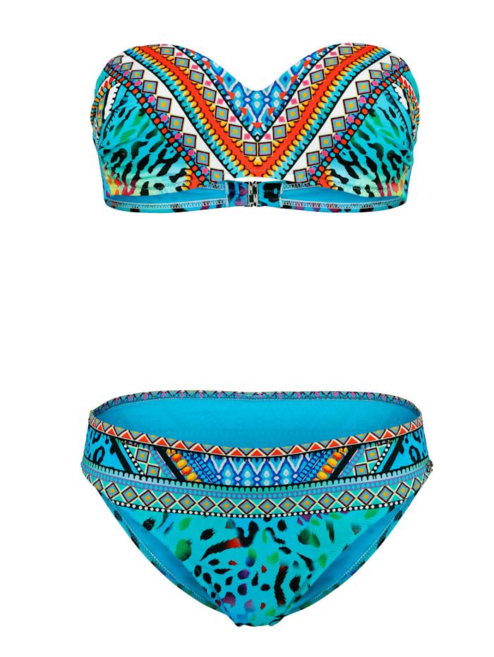 Bikini met trendy dessinmix