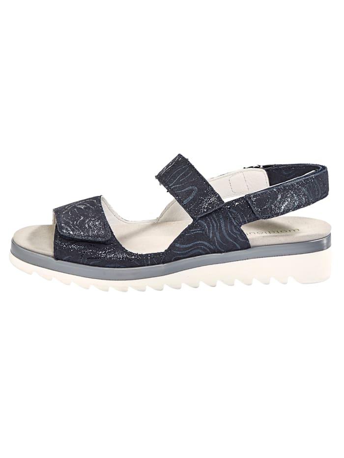 Sandale aus Kalbveloursleder