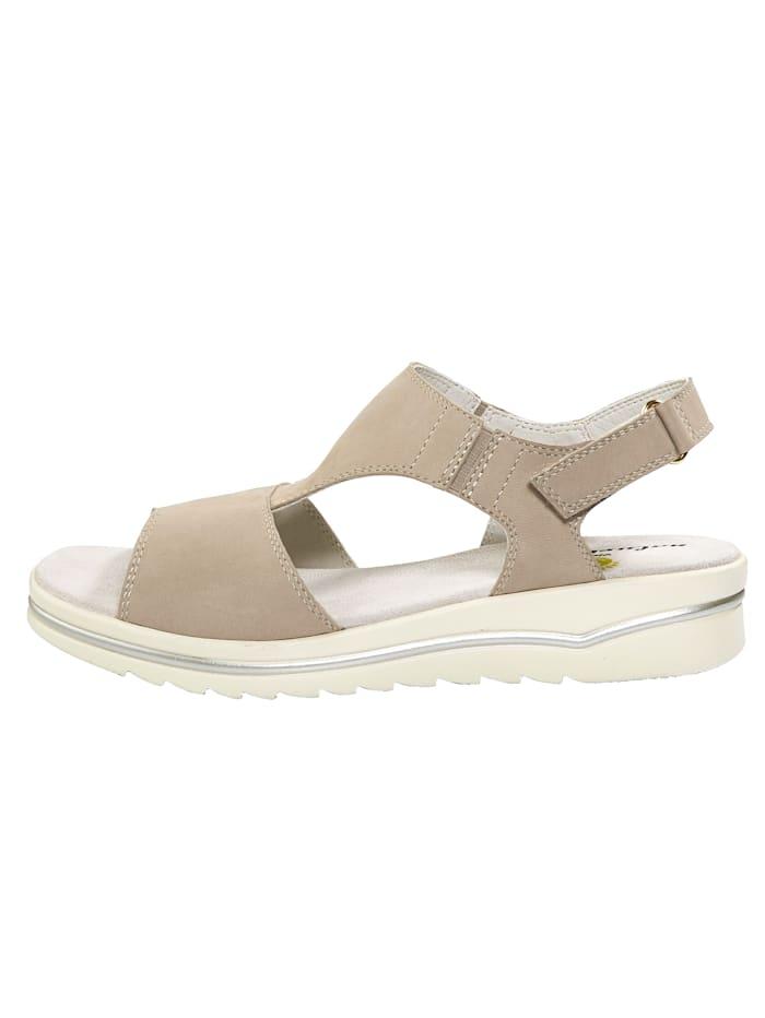 Sandales avec empiècement extensible