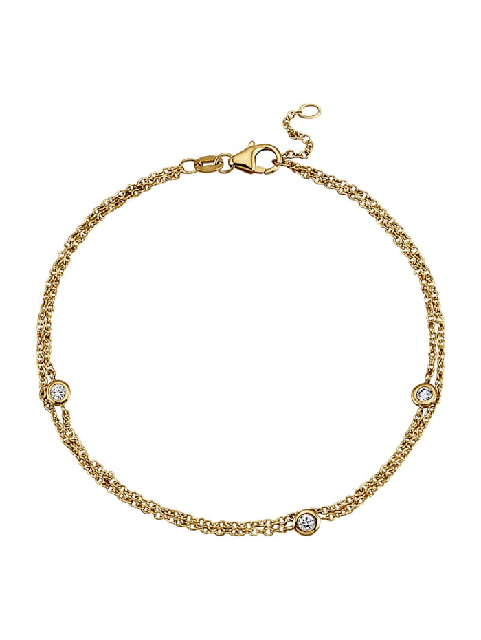 Diemer Diamant Bracelet avec brillants, Coloris or jaune