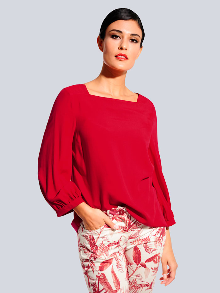 Alba Moda Bluse aus fließender Viskose, Rot