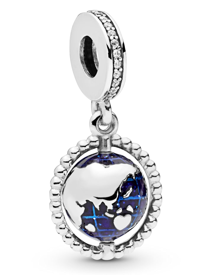 Pandora Charm-Anhänger -Drehende Weltkugel- 798021CZ, Silberfarben
