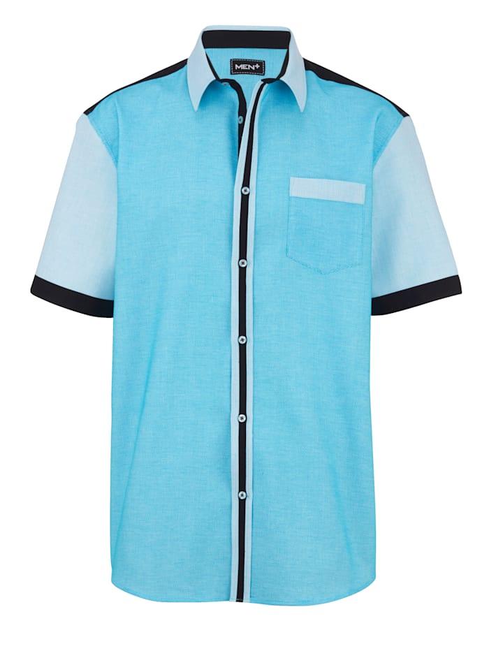 Men Plus Košeľa z čistej bavlny, Tyrkysová