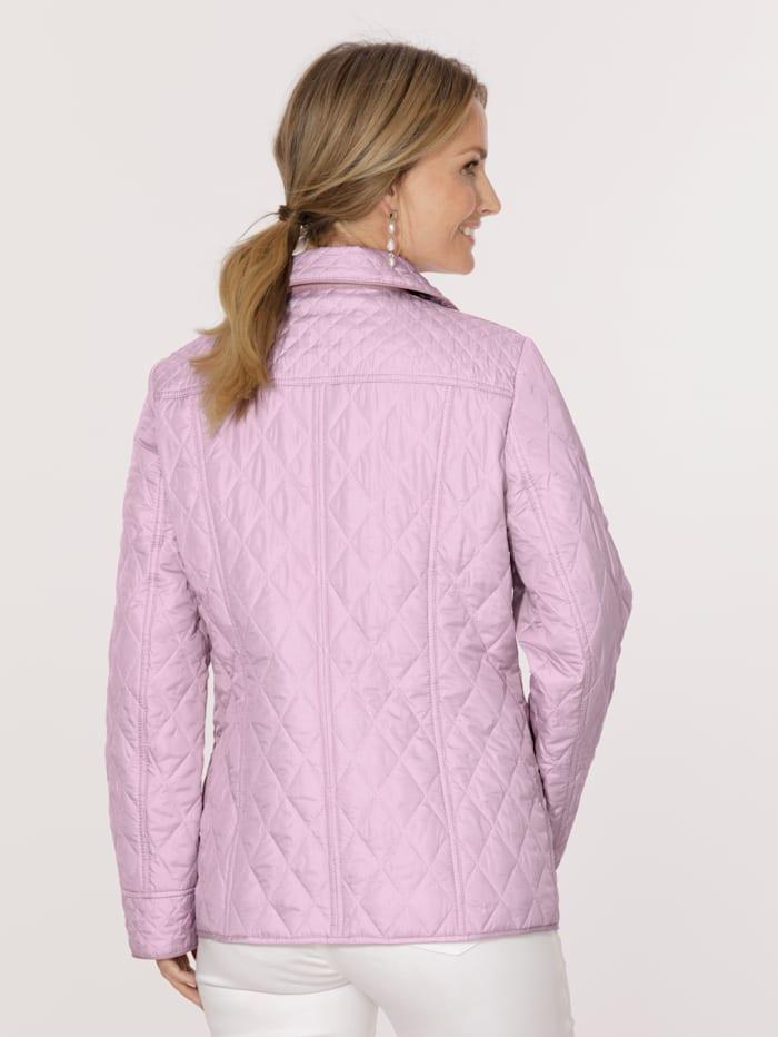 Gewatteerde jas met minimaldessin