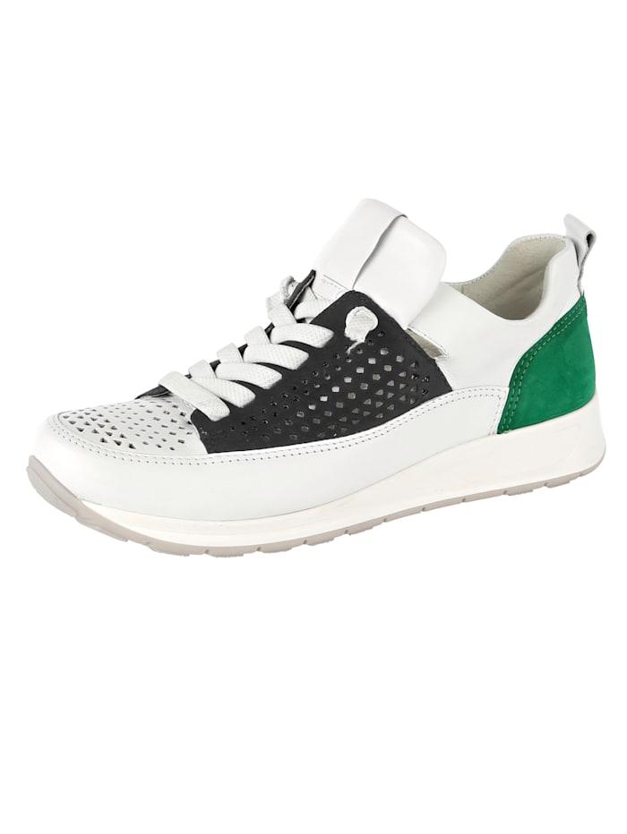 Ara Slipper obuv v šnurovacom vzhľade, Biela/Modrá/Zelená
