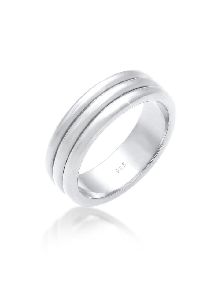 Elli Premium Ring Paarring Drei Ringe Trauring Hochzeit 925 Silber, Silber
