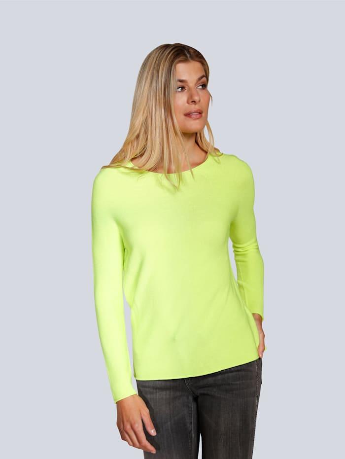 OUI Pullover in leichter Qualität, Limettengrün