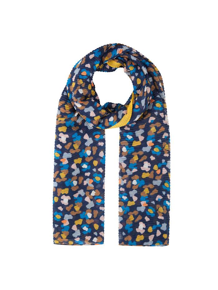 Codello Plissee-Schal aus recyceltem Polyester, dark blue
