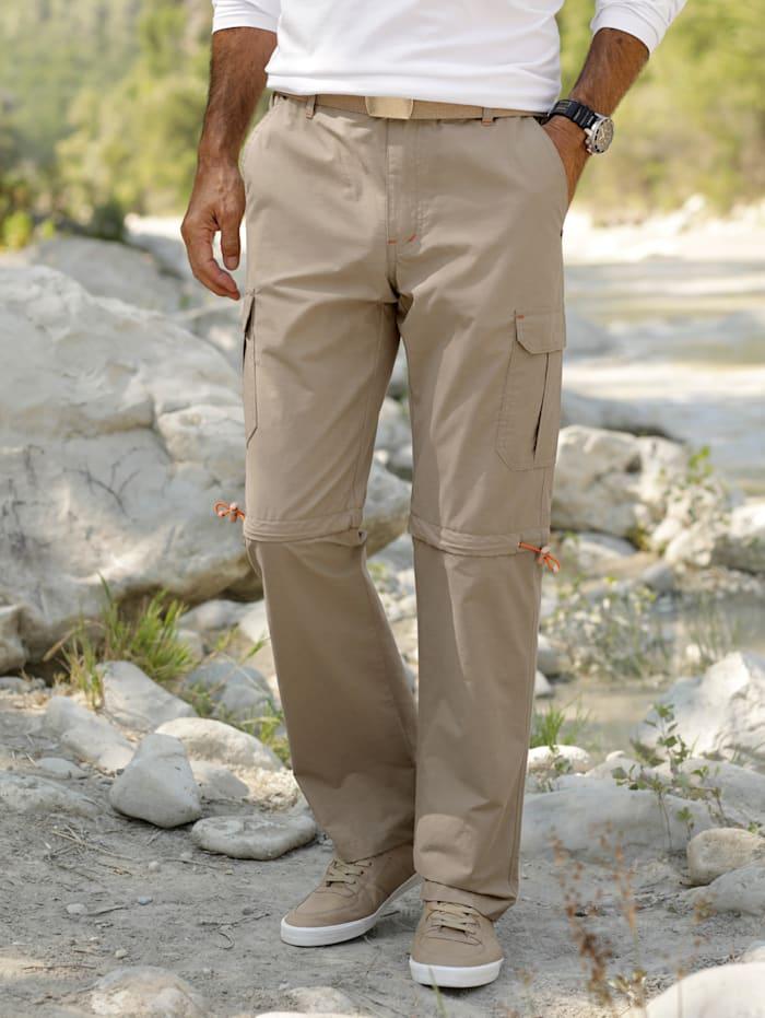 Afritscargobroek met 2 draagvarianten: broek & bermuda
