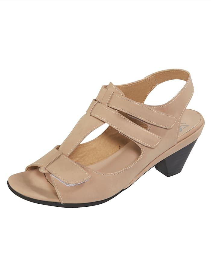 Liva Loop Sandale mit komfortablem Einschlupf, Nude