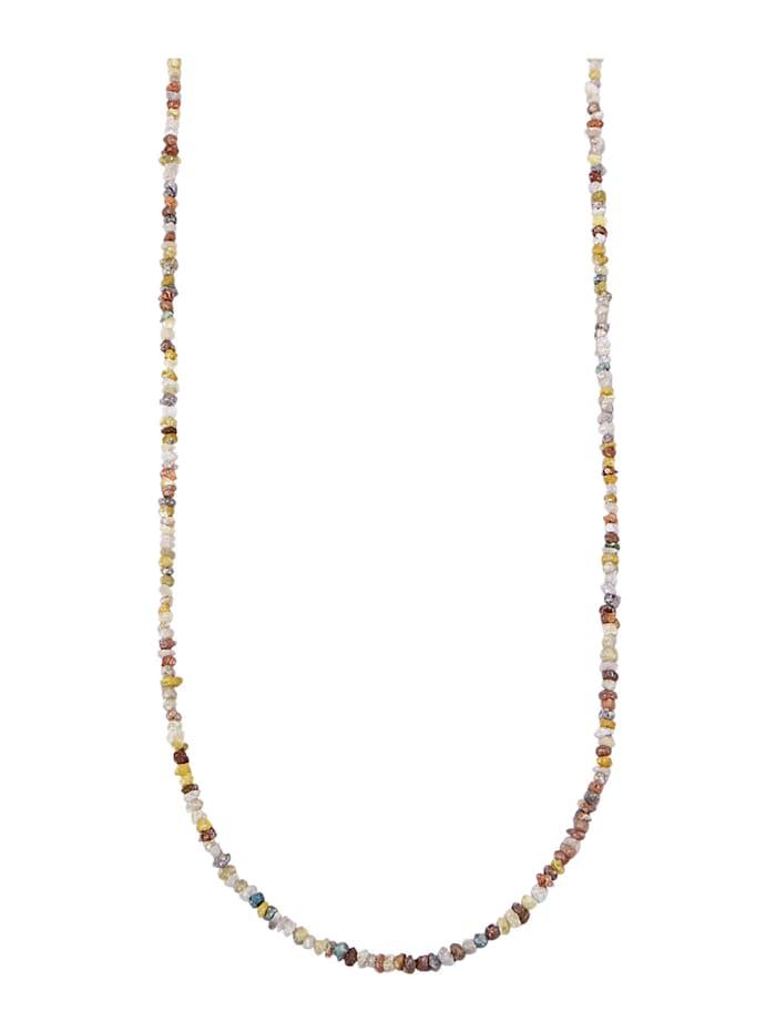 Diemer Atelier Collier à diamants bruts, Multicolore