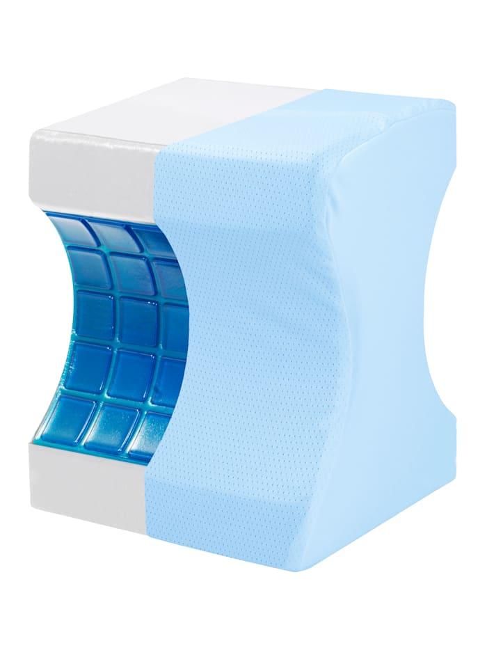 Relax Vital Comfy Air Gel-Beinkissen Ergonomisches Design, blau