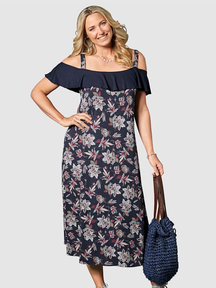 Kleid mit Volant am Ausschnitt