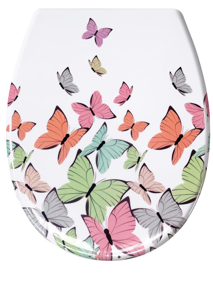 Kleine Wolke WC-sits, Fjäril, flerfärgad
