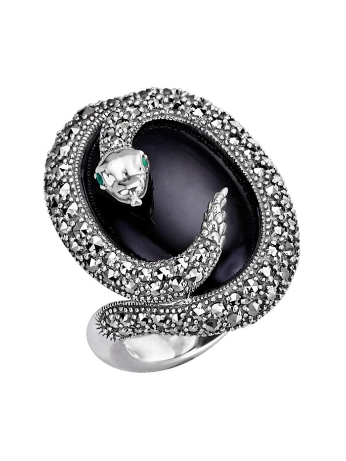 Esse Ring med onyx, Svart