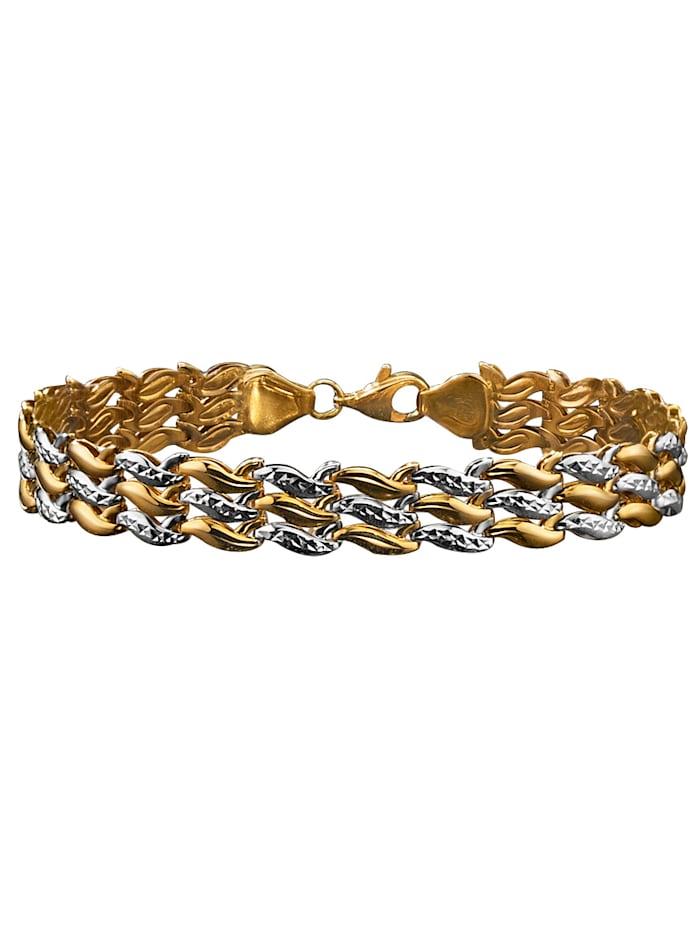 Armband aus Gelb- und Weißgold