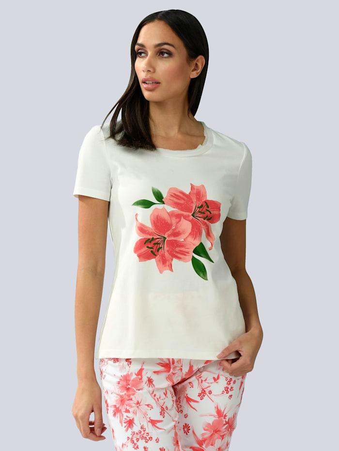 Alba Moda Shirt met bloemenprint, Wit