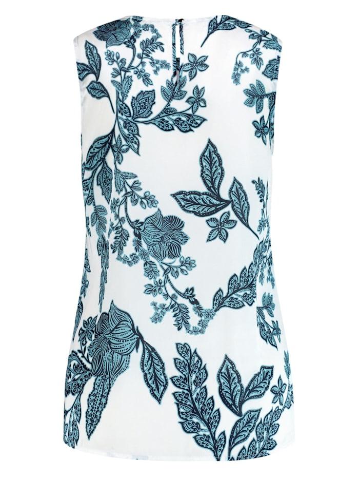 Ärmellose Bluse mit Floral-Print
