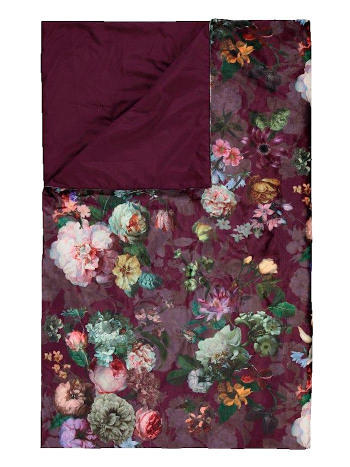Essenza Plaid 'Fleur', Burgundy