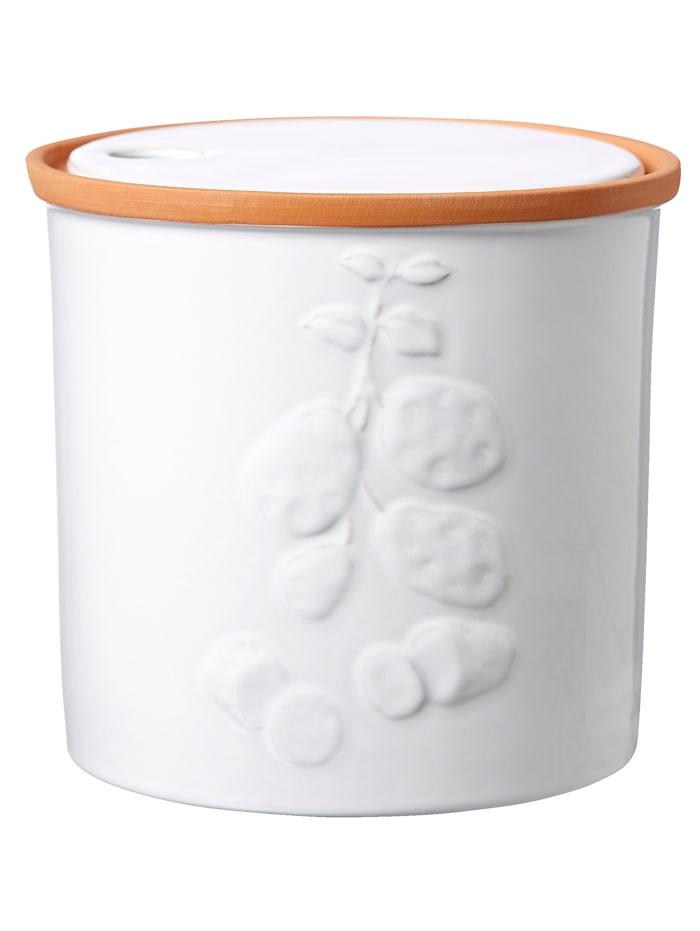 "Ritzenhof & Breker Keraaminen perunapurkki ""Estoril"", Ø 20,5 cm, Valkoinen"
