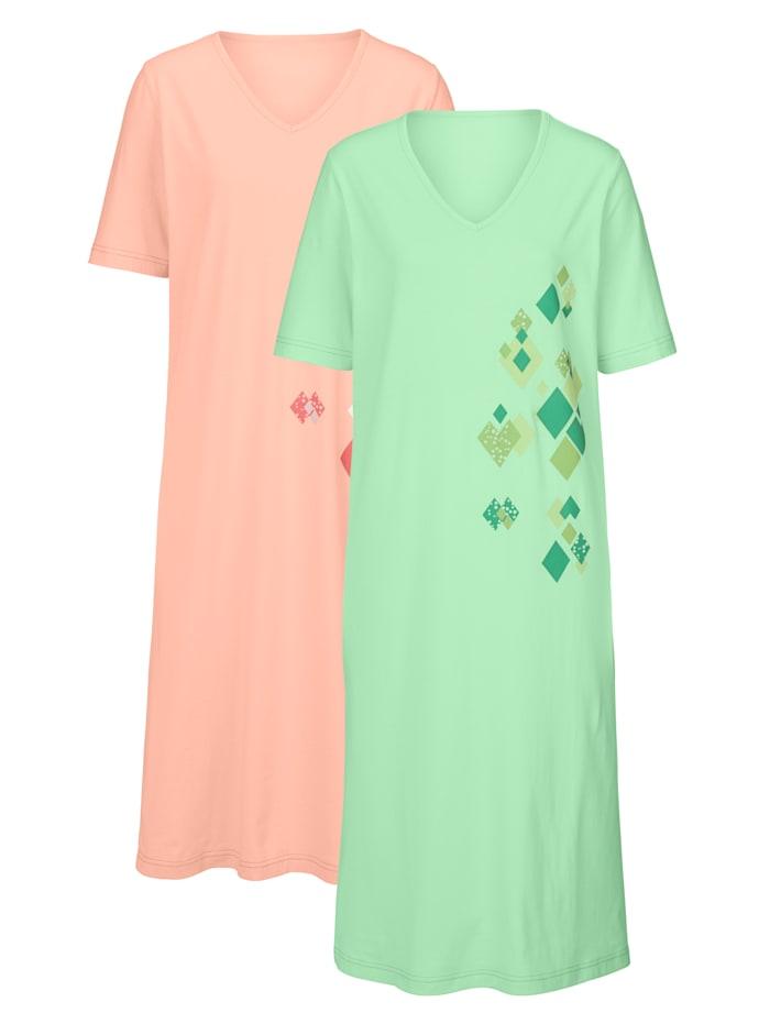 Chemises de nuit imprimé placé Lot de 2