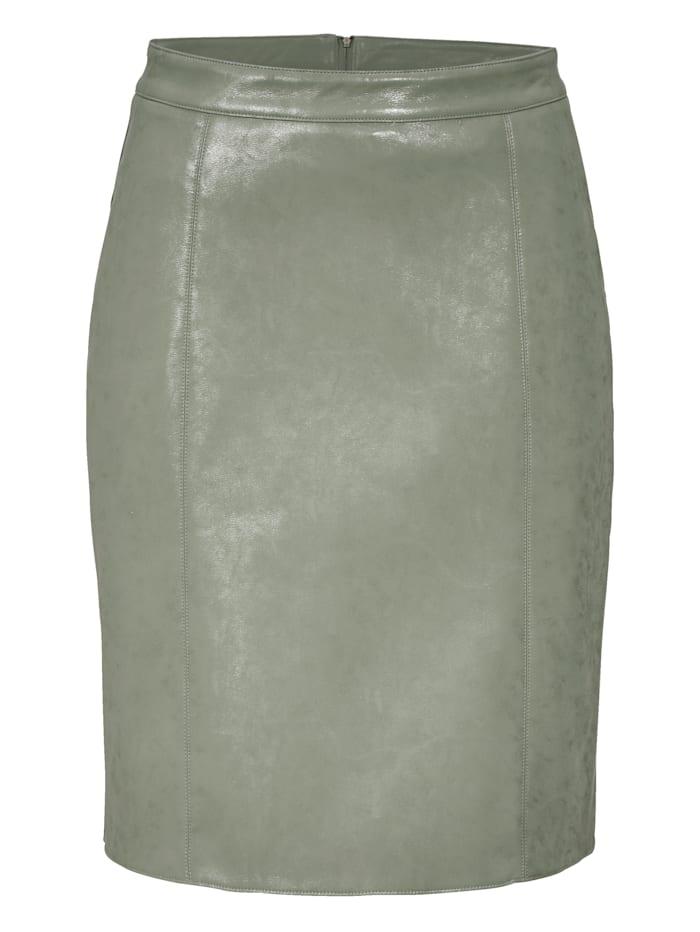 REKEN MAAR Kunstlederrock, Mintgrün