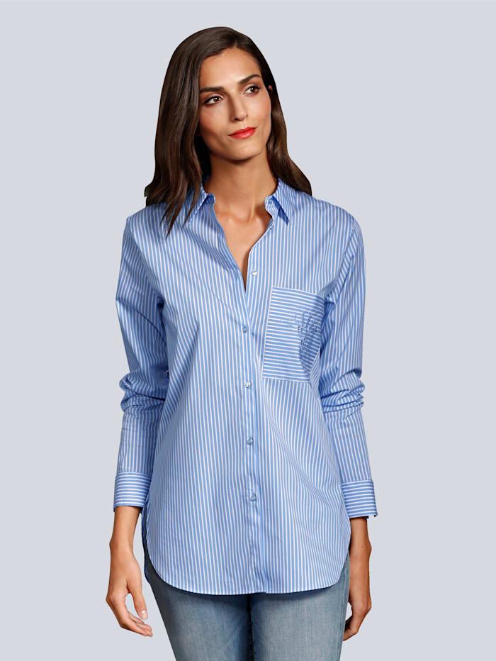 JOOP! Bluse im Streifendessin, Blau/Weiß