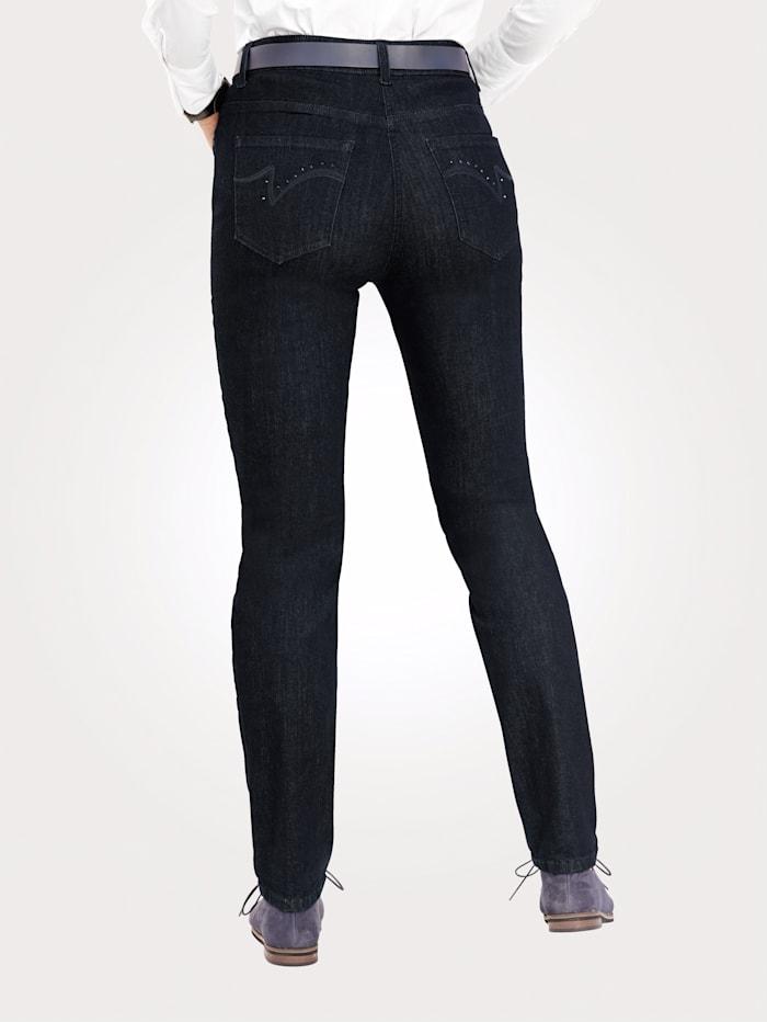 Jeans mit dekorativen Strasssteinchen
