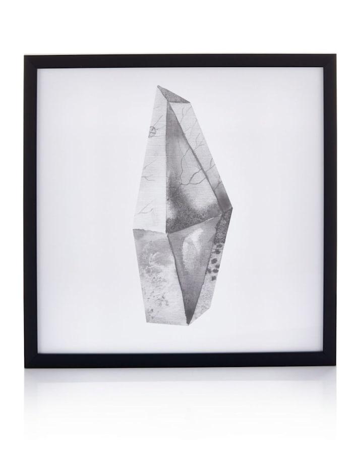 IMPRESSIONEN living Wandbild 45x45 cm, weiß/schwarz
