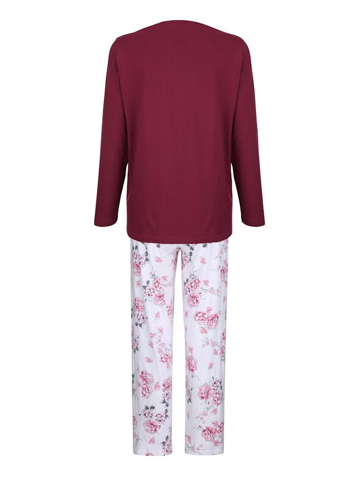 Schlafanzug mit dekorativer Knopfleiste