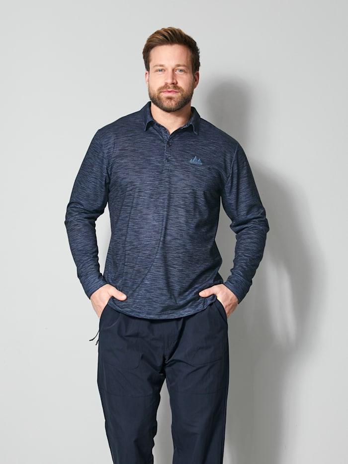 Men Plus Poloshirt schnelltrocknend, Marineblau