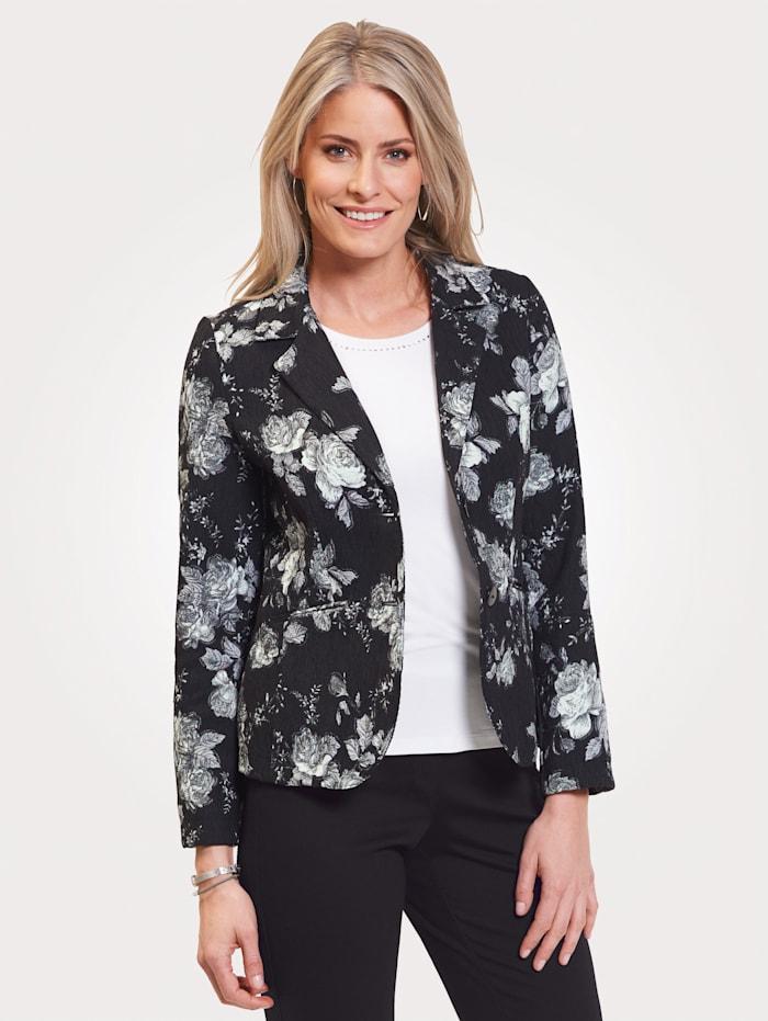 MONA Blazer made from soft corduroy, Black/Grey/White