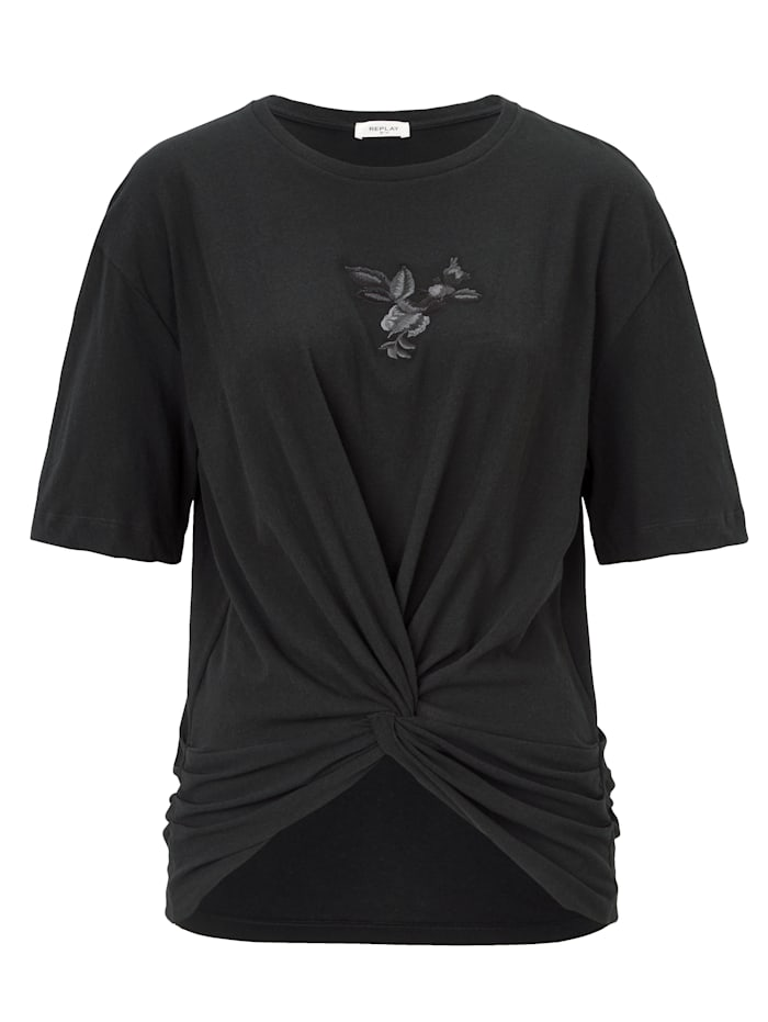 REPLAY Shirt, Schwarz