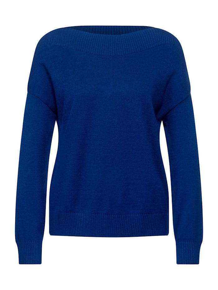 Street One Softer U-Boot Pullover, cobalt blue