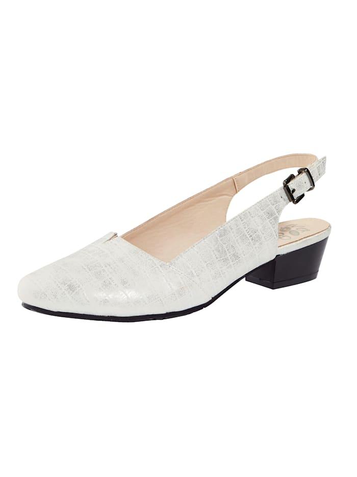 Liva Loop Sling obuv s nastaviteľným remienkom okolo päty, Biela