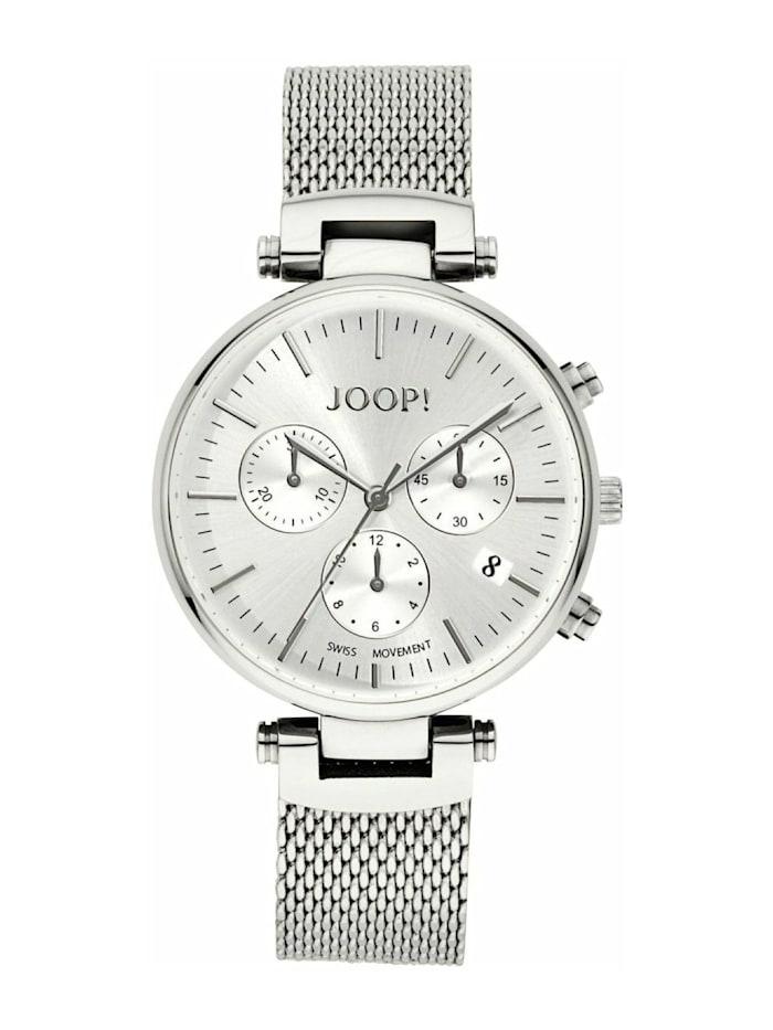 JOOP! Chronograph für Damen, Edelstahl, Silber