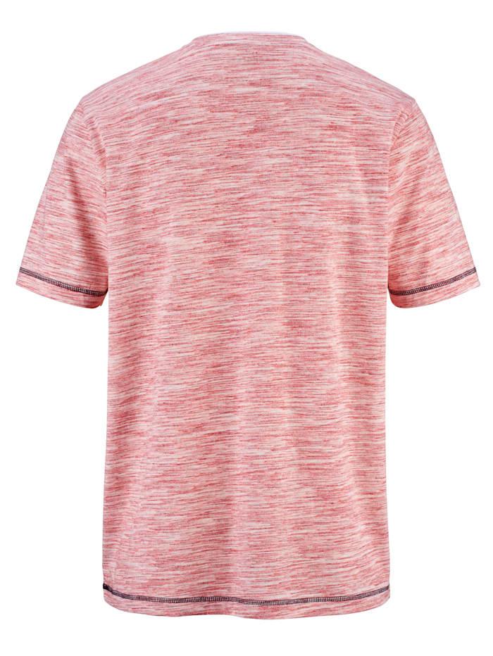Henley tričko s vzhledem dvojitého límce
