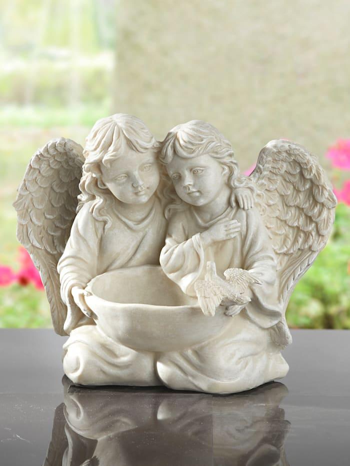 Engelpaar mit Vogeltränke, Stein
