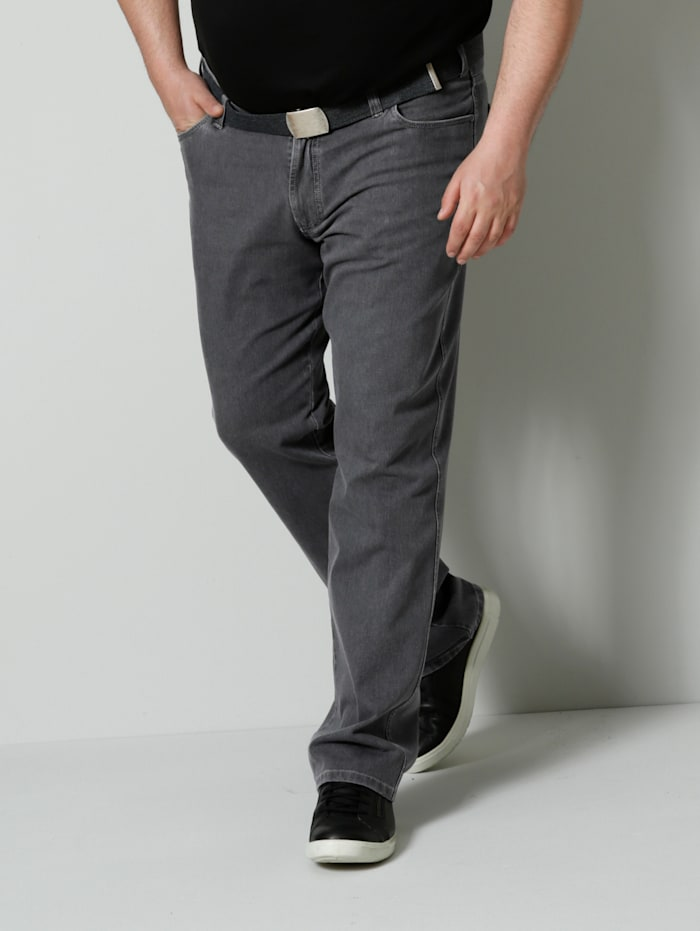 Men Plus Bi-Stretch Jeans Regular Fit, Grey