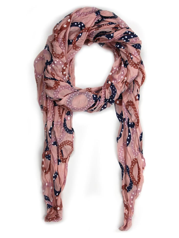 Collezione Alessandro Italienischer Schal Destiny Made in Italy, rose