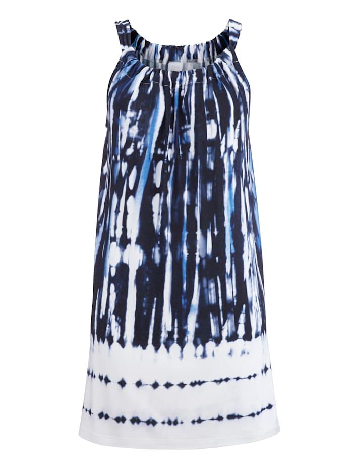 Alba Moda Top im Batik-Dessin, blau-batik