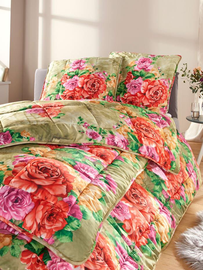 Kinzler Dekbedden Rosalie, groen/multicolor