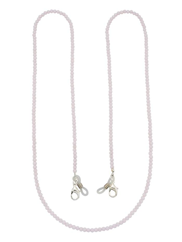 Brillenkette aus Glassteinen, Rosé