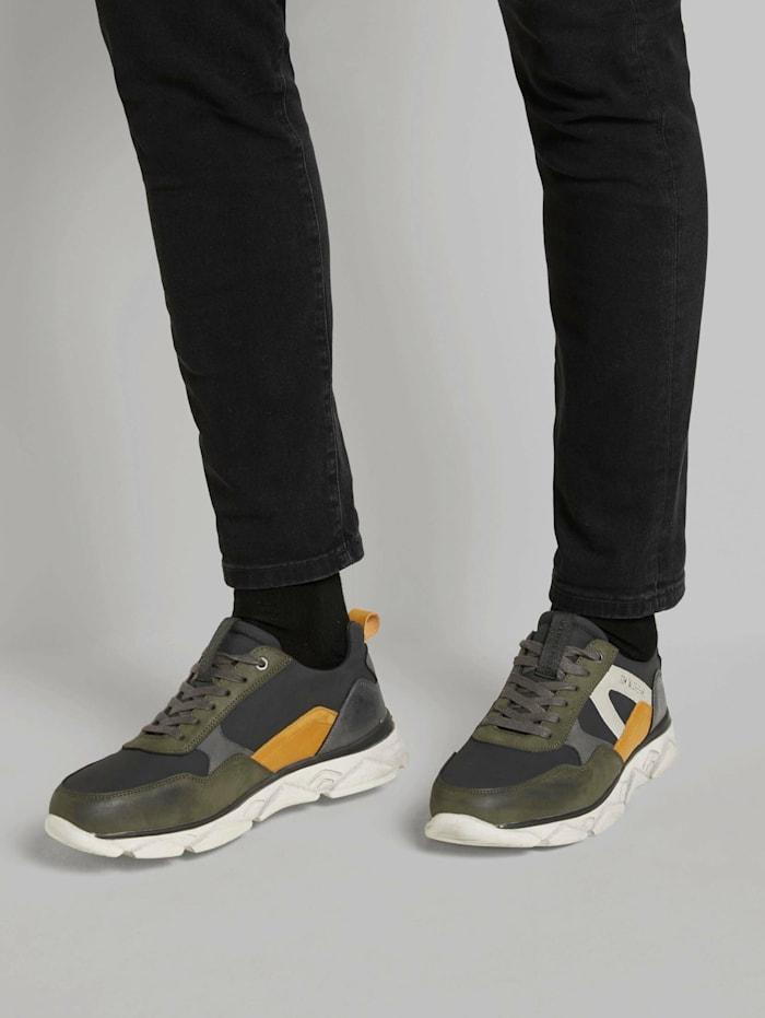 Tom Tailor Sportliche Sneaker, black-khaki
