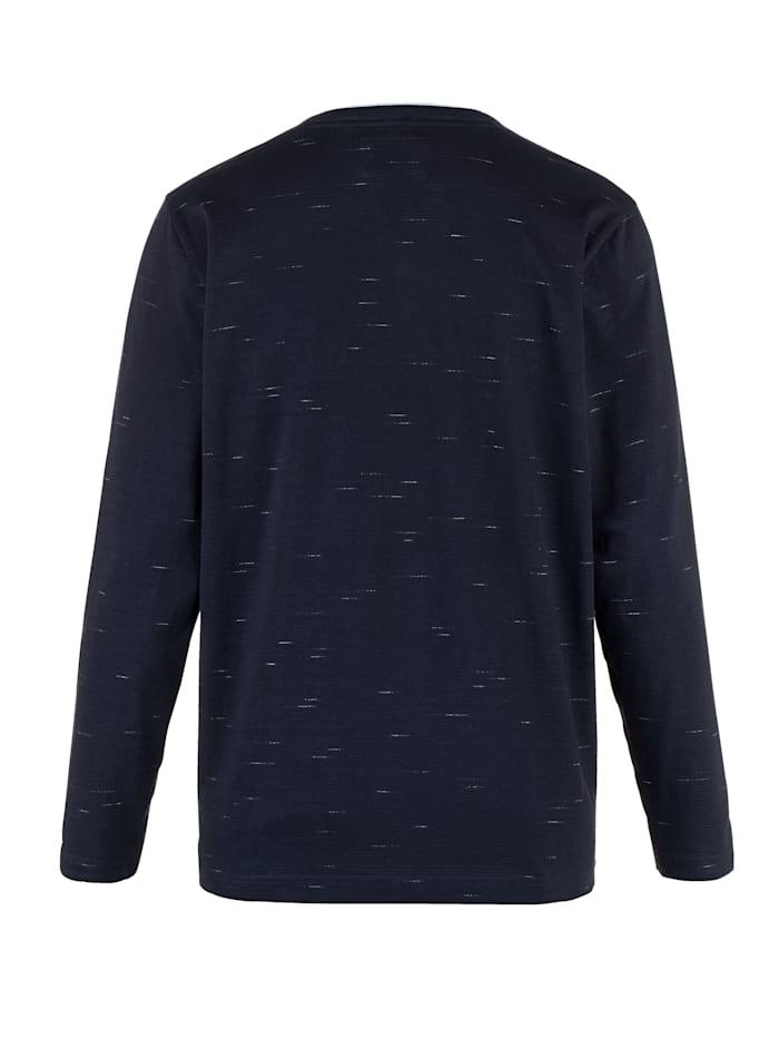 T-shirt met fijne structuur