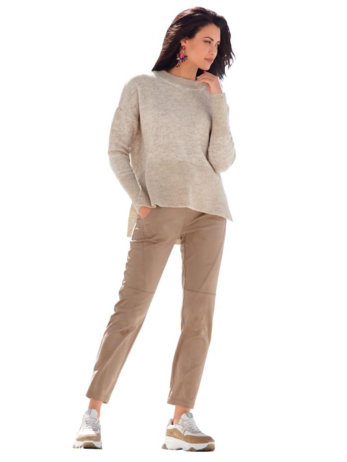 Pullover mit Pailletten allover