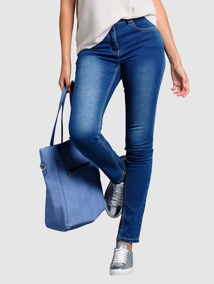 Alba Moda Jeans med ettersittende ben, Blå
