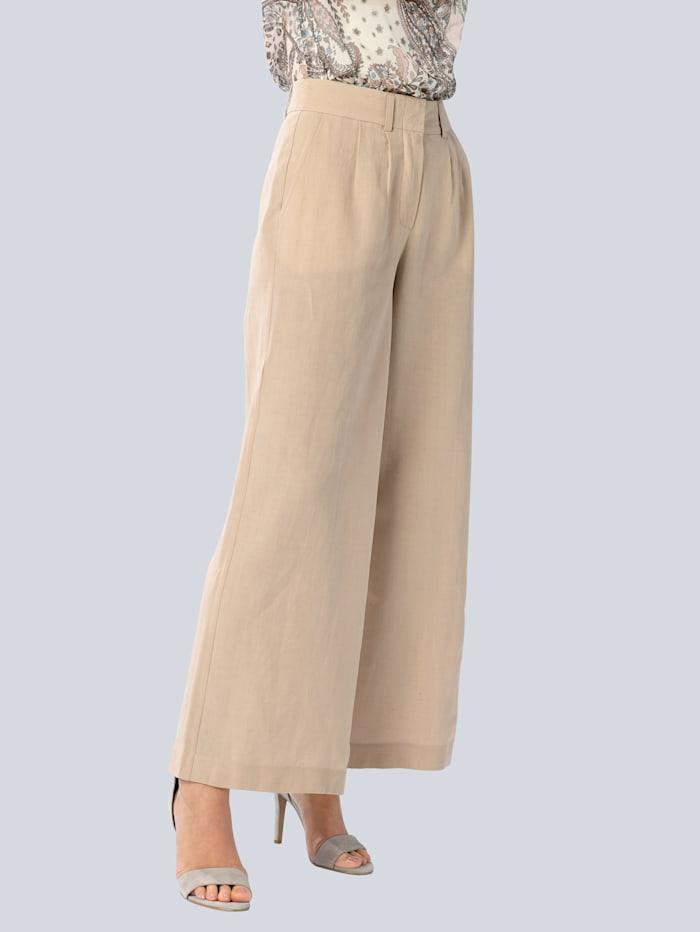 Alba Moda Hose in modisch ausgestellter Form, Creme-Weiß
