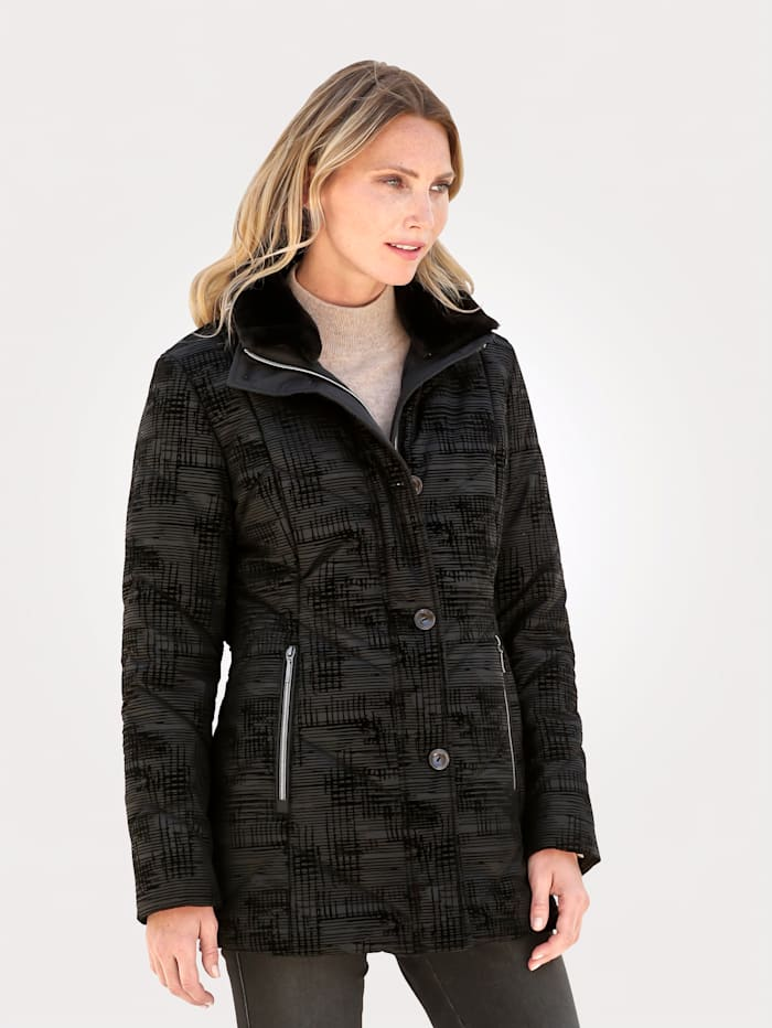 MONA Jacket with a graphic print, Black