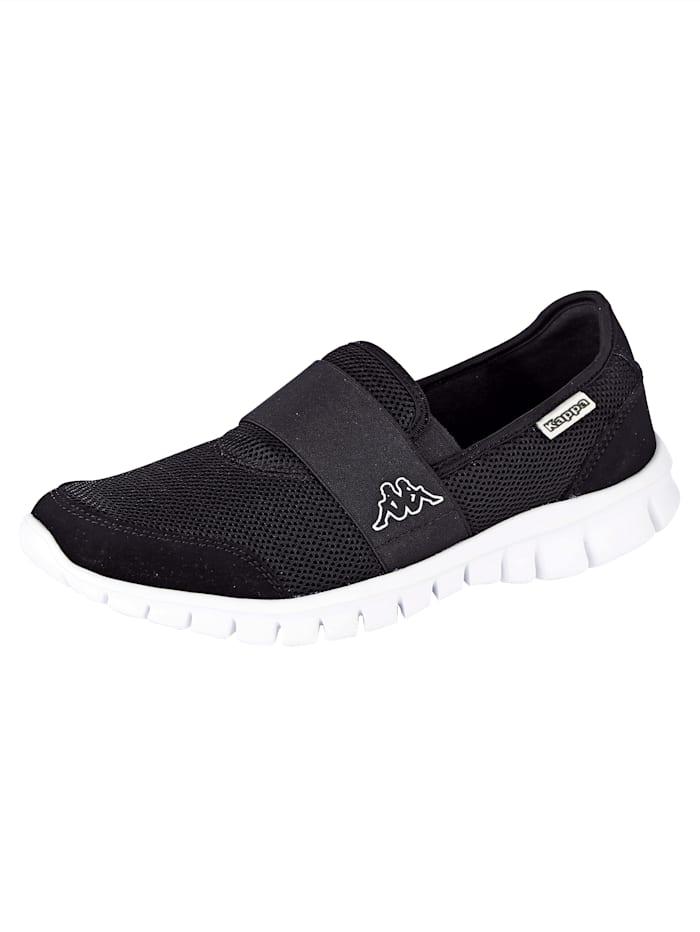 Kappa Sneaker obuv s extra lehkou podrážkou, Černá/Bílá